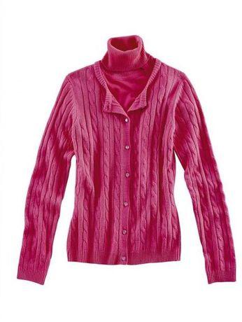 Świetny szary i różowy sweterek plus golf jak nowy