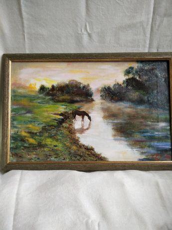 Картина холст, масло 61х41 см в раме