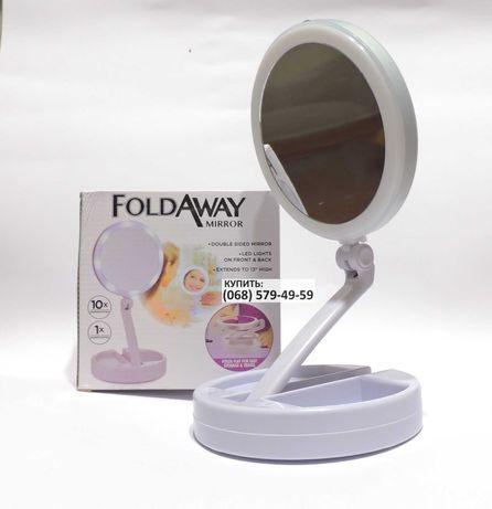 Зеркало для макияжа с LED подсветкой круглое