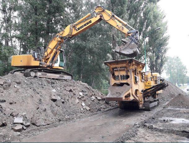 Rozbiórki, wyburzenia, kruszenie betonu, usługi sprzętem budowlanym