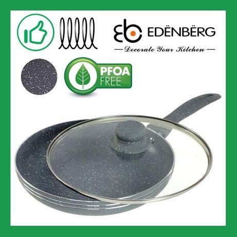 Сковорода с крышкой 26 см, мраморное покрытие, Edenberg EB-787