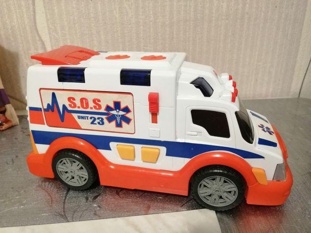 Ambulans, karetka na baterie światło dźwięk Dickie Toys