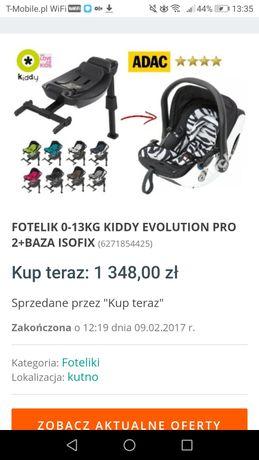 Wózek 4w1 bexa ideal New fotelik 0-13 kiddy evolution pro 2 z bazą iso