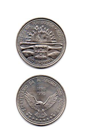 moedas de 100 escudos autonomia dos açores