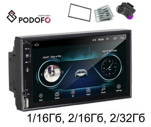 Android автомагнитола Podofo Tourch USB, 1/2Гб RAM 16/32Гб ROM рамк