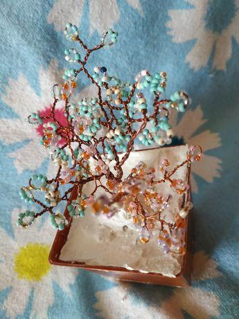 Дерево из бисера на подарок