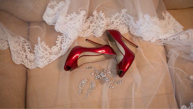 Туфли антоніо біаджи, на шпильці, свадебные туфли, червоні туфлі