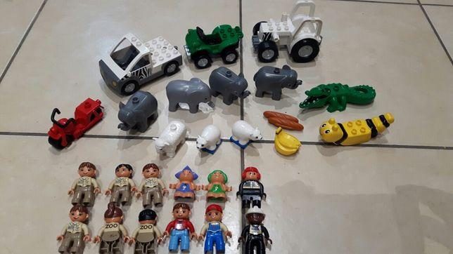 LEGO Duplo figurki,zwierzęta,autka,ludziki