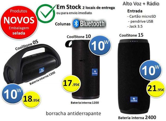 Colunas Bluetooth portátil | 10W com Radio