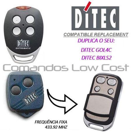 Comando de garagem compatível c/ DITEC GOL4C e BIXLS2