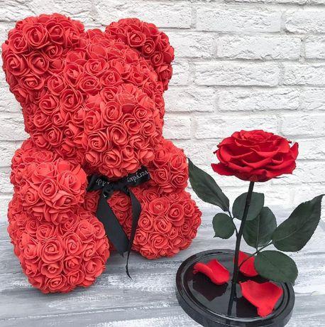 ⫸Альтернатива обычному букету Мишка из роз .Подарок для любимой