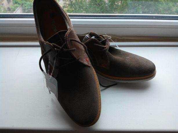 Новые мужские кожаные туфли Blue Cox,42р.