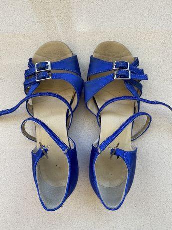 Туфли блок каблук для бальных танцев 21,5 см