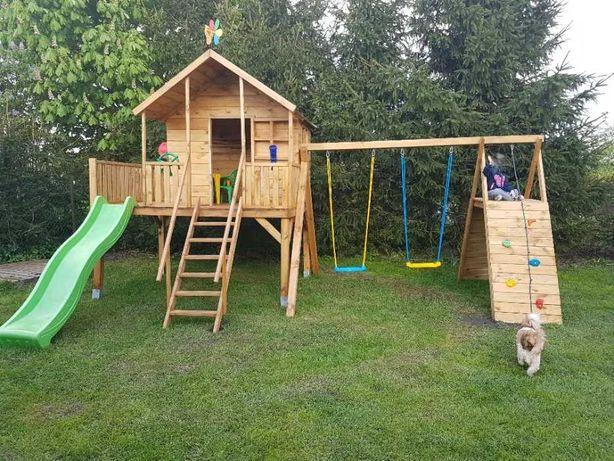 Plac zabaw Domek drewniany dla dzieci Nowy