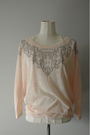 Pudrową bluzka, sweter sweterek Reserved r. L