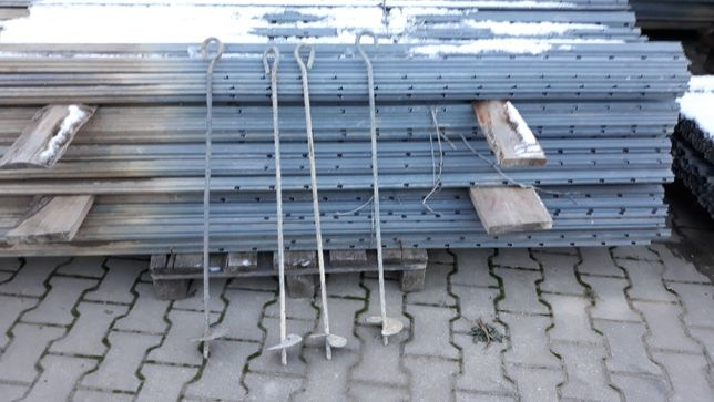 kotwy ocynkowane wkręcane do ziemi niemieckie