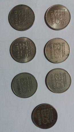 Moedas 25$00 Republica Portuguesa