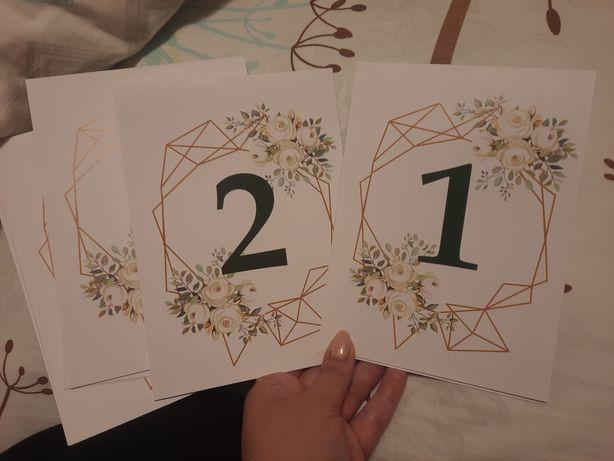 Numery na stoły weselne