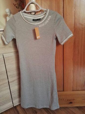 Szara sukienka dresowa