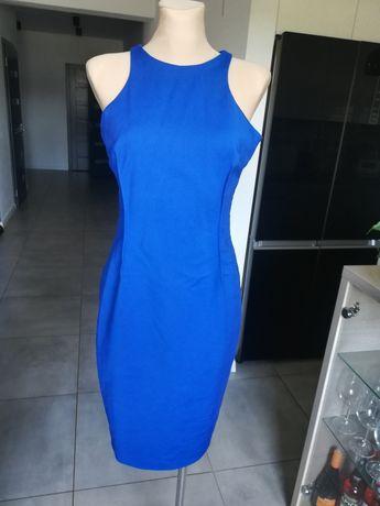 Zara chabrowa sukienka damska wyjściowa