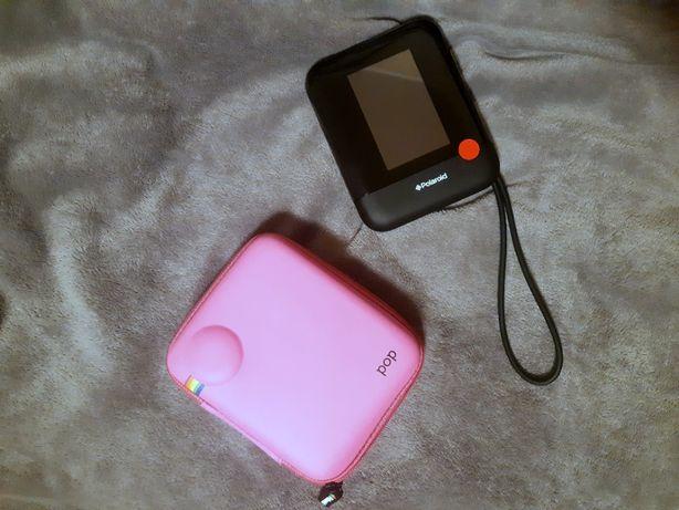 Polaroid POP czarny z różowym etui i wkładem na zdjęcia