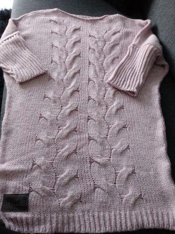 Sweter pudrowy róż oversize Hey Look