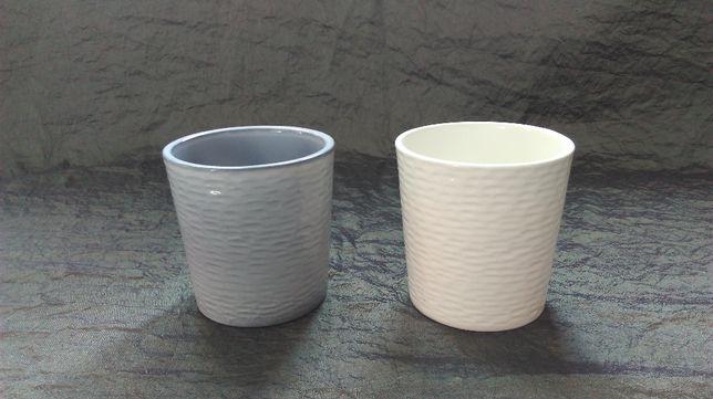 OSŁONKI DONICZKI ceramika 10x10h kpl.=2szt. NOWE