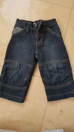 Spodnie zimowe jeansy GAP 80 cm 12-18 msc ocieplane