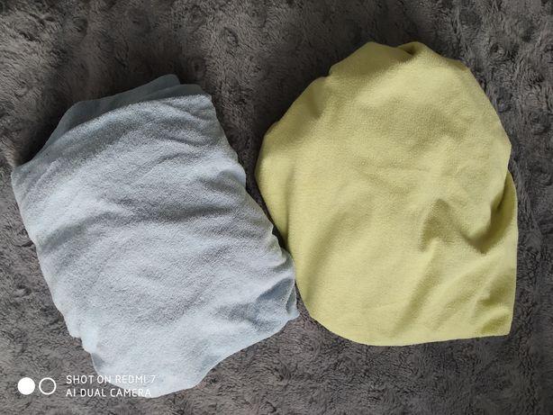 2 grube prześcieradła do łóżeczka niemowlęcego