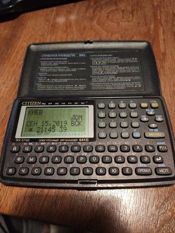 Электронная записная книжка CITIZEN RX-5740 - раритет, 1998