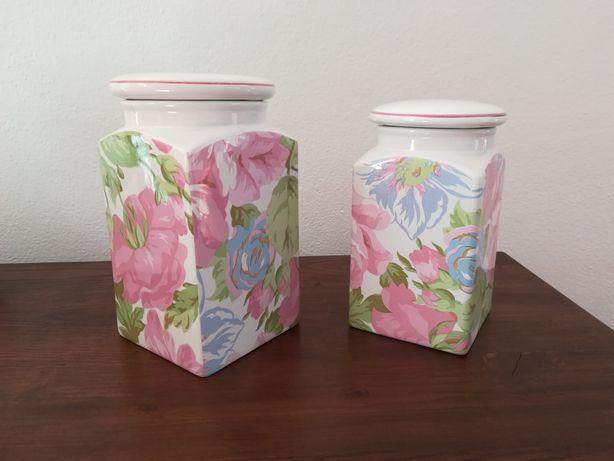 2 potes em cerâmica