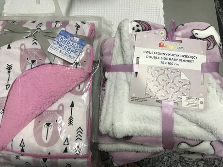 Lote 2 cobertores bebe menina 75x100 estrear