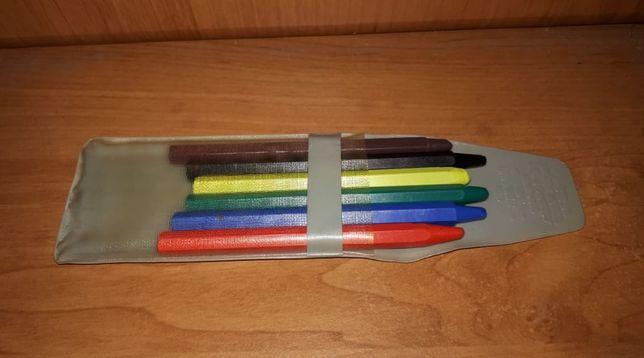Цветные восковые мелки (советские восковые карандаши) из детства СССР