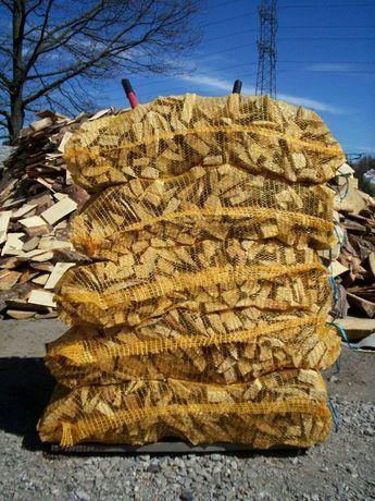 Drewno opałowe rozpałkowe sosna zrzyny drobno porąbane suche