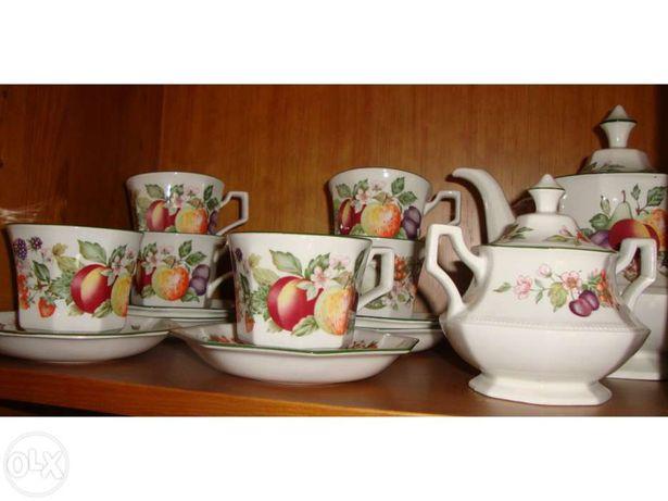 Serviço de chá, de louça inglesa