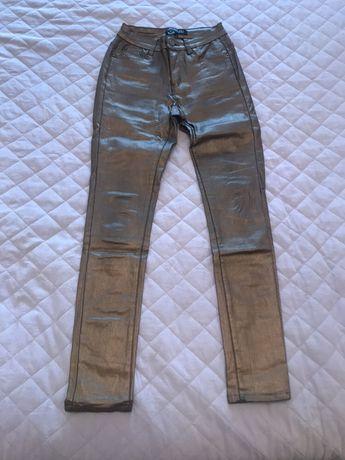 Złote spodnie Top Secret