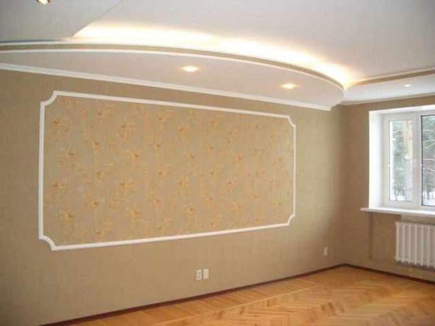 Ремонт квартир. Поклейка обоев от 30 грн.м²