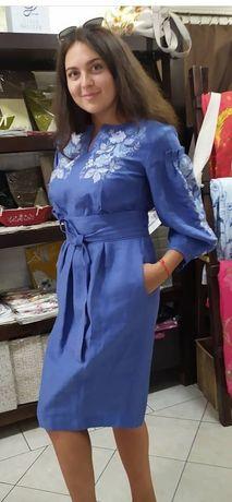 Платье вышитое новое лён, вышиванка