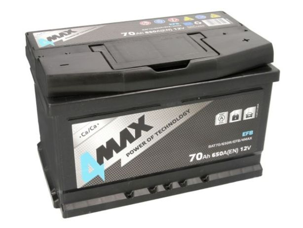Akumulator 4Max EFB Start-Stop BAT70 12V 70Ah 650A P+ Kraków