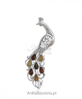 ankabizuteria.pl biżuteria damska apart Broszka srebrna z bursztynem P