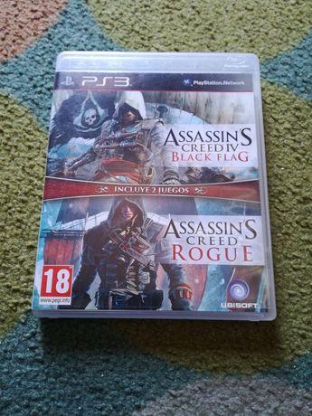 Jogo Assassins Creed Black flag + rogue ps3