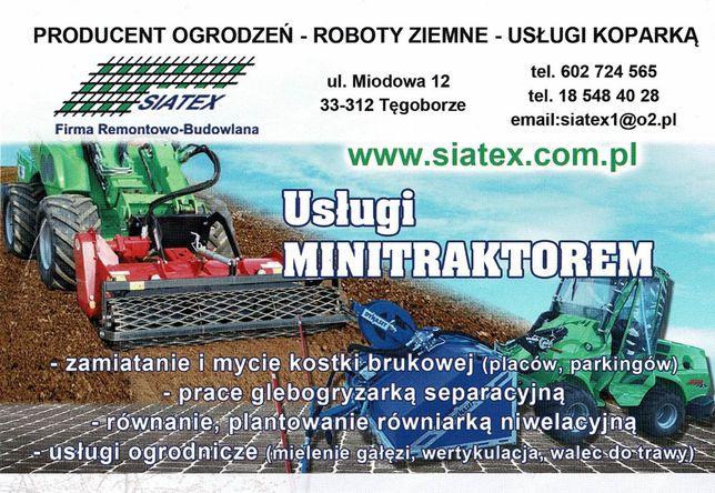 Usługi traktorem, czyszczenie działek, mycie kostki, usługi porządkowe