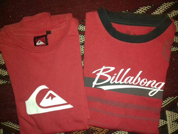 T-shirts 10 anos Billabong e Quiksilver