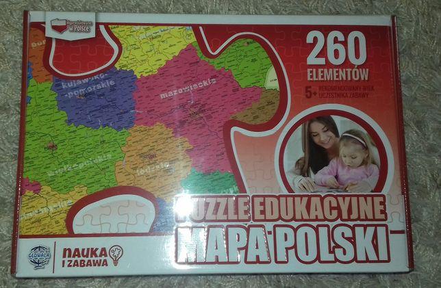 Puzzle Mapa Polski 260