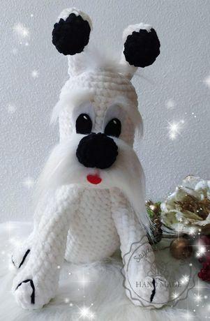 Pies Felek amigurumi maskotka zabawka na szydełku Handmade