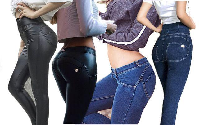"""Леджинсы с пуш-ап эффектом """"бразильская попка"""" под кожу и джинсовые"""