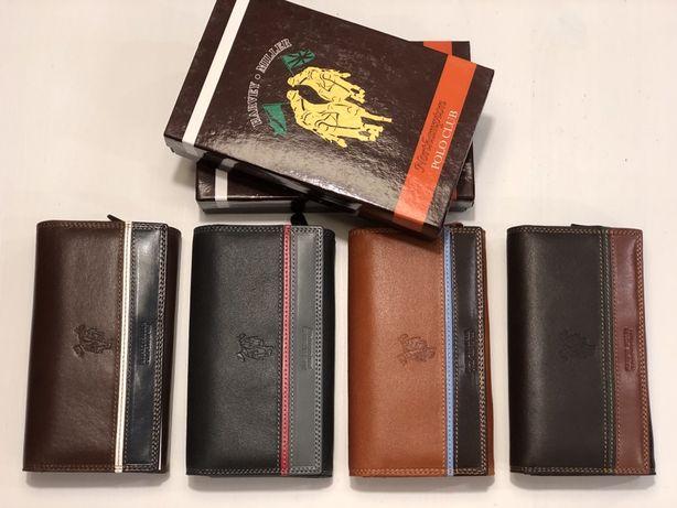 Skórzany włoski portfel marki Harvey Miller - Northampton Polo Club