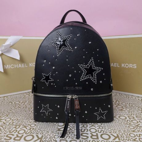 Кожаный рюкзак Michael Kors черный md stars оригинал Майкл Корс