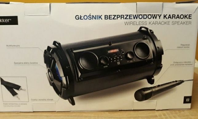 Głośnik bluetooth Hykker karaoke nowy