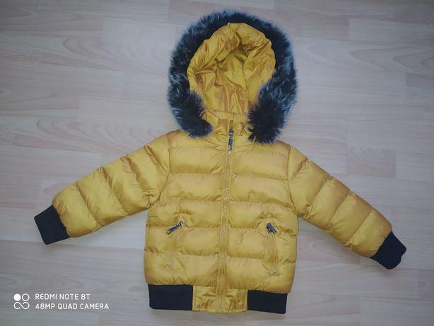 Kurtka 86+czapka z szalem i rękawiczkami